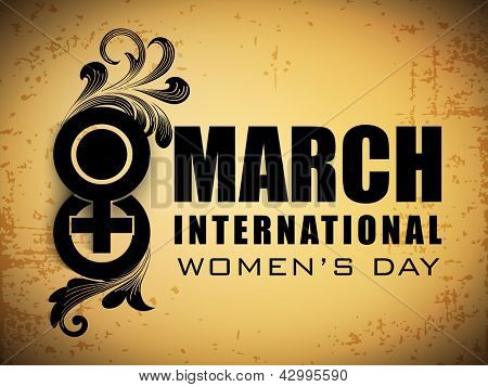 Happy International Women's Day flyer, banner or poster with text 8 March. poster