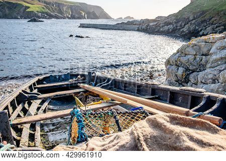 Vessels Lying At The Harbour Of An Port, County Donegal - Ireland