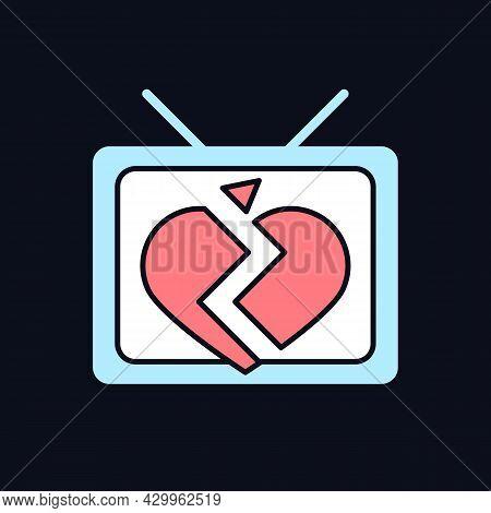 Soap Opera Rgb Color Icon For Dark Theme. Tv Drama Series. Sentival Film With Love Plot. Romantic Se