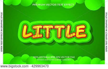 Editable Text Effect - Little Style
