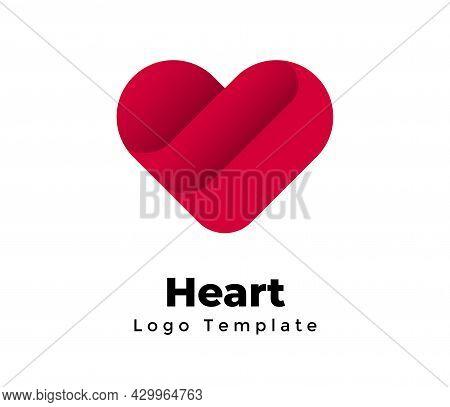 Heart Sign. Creative Vector Medical Template. Charity, Blood Donation Logo. Healthcare Symbol. Valen