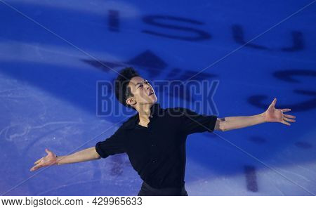 Marseille, France - December 11, 2016: Nathan Chen Of Usa Performs During The Exhibition Gala Event