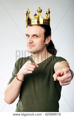 Man With Crown