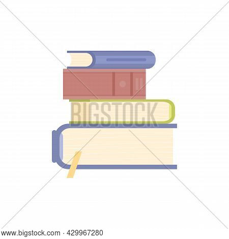 Stacked Pile Of Education Or Entertainment Literature A Vector Illustration.