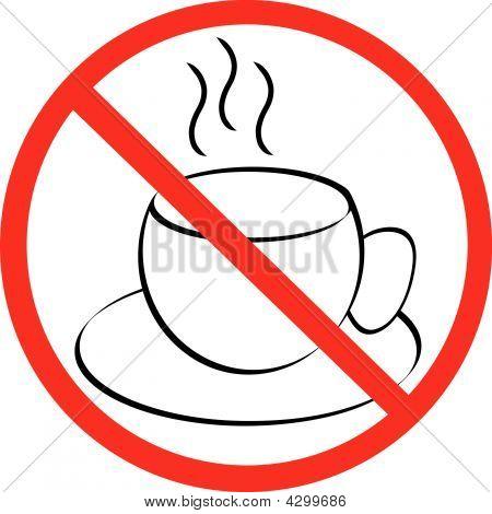 Coffee Mug With Not Allowed Symbol.