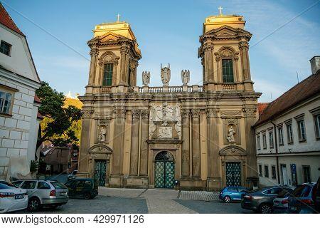 Mikulov, South Moravian Region, Czech Republic, 05 July 2021: Baroque Dietrichstein Tomb At St. Anne