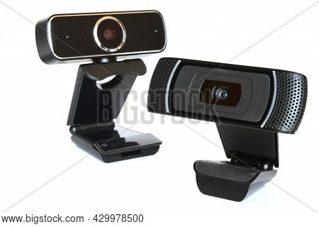 Black Computer Webcam Isolated On White Background