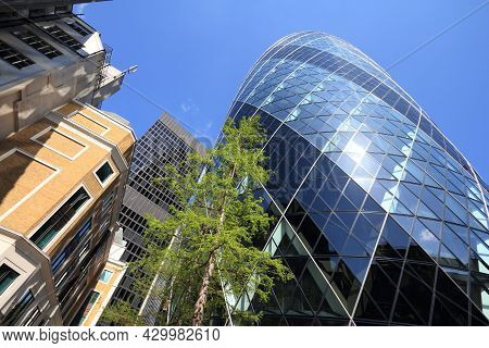 London, Uk - May 13, 2012: 30 St Mary Axe Office Building In London. It Was Completed In 2003 And Is