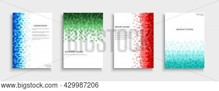Set Of Vector Colorful Abstract Covers, Templates, Posters, Placards, Brochures, Banners, Flyers And
