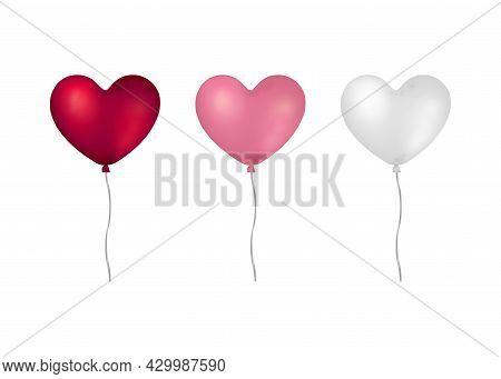 Heart Shaped Helium Balloons.
