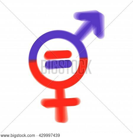 Men And Women Symbol. Gender Equality Symbol. Women And Men Should Always Have Equal Opportunities.