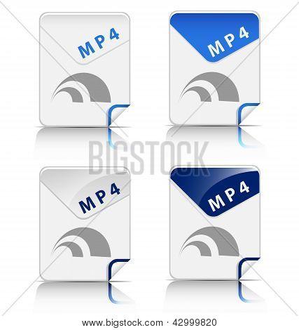 MP4 file type icon