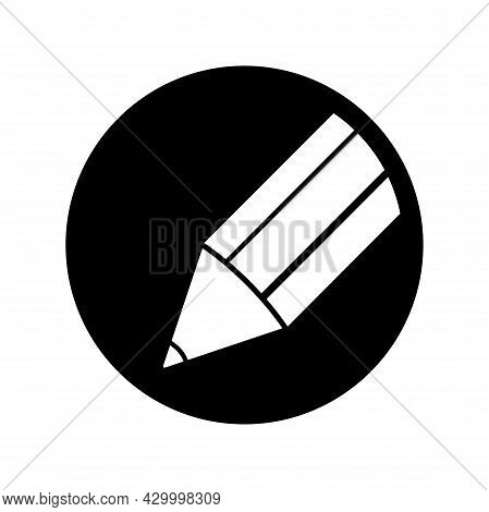 Pencil Icon Isolated On White Background. Pencil Logo Vector. Pencil Draw Icon Simple Sign. Pencil I