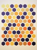 abstract hexagon background. Vector illustration, seamless pattern poster