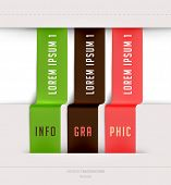Modern ribbons infographic template for business design poster