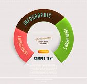 Modern circle infographic template for business design poster