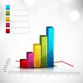 Abstract 3D statistics, business profit and loss background. EPS 10. poster