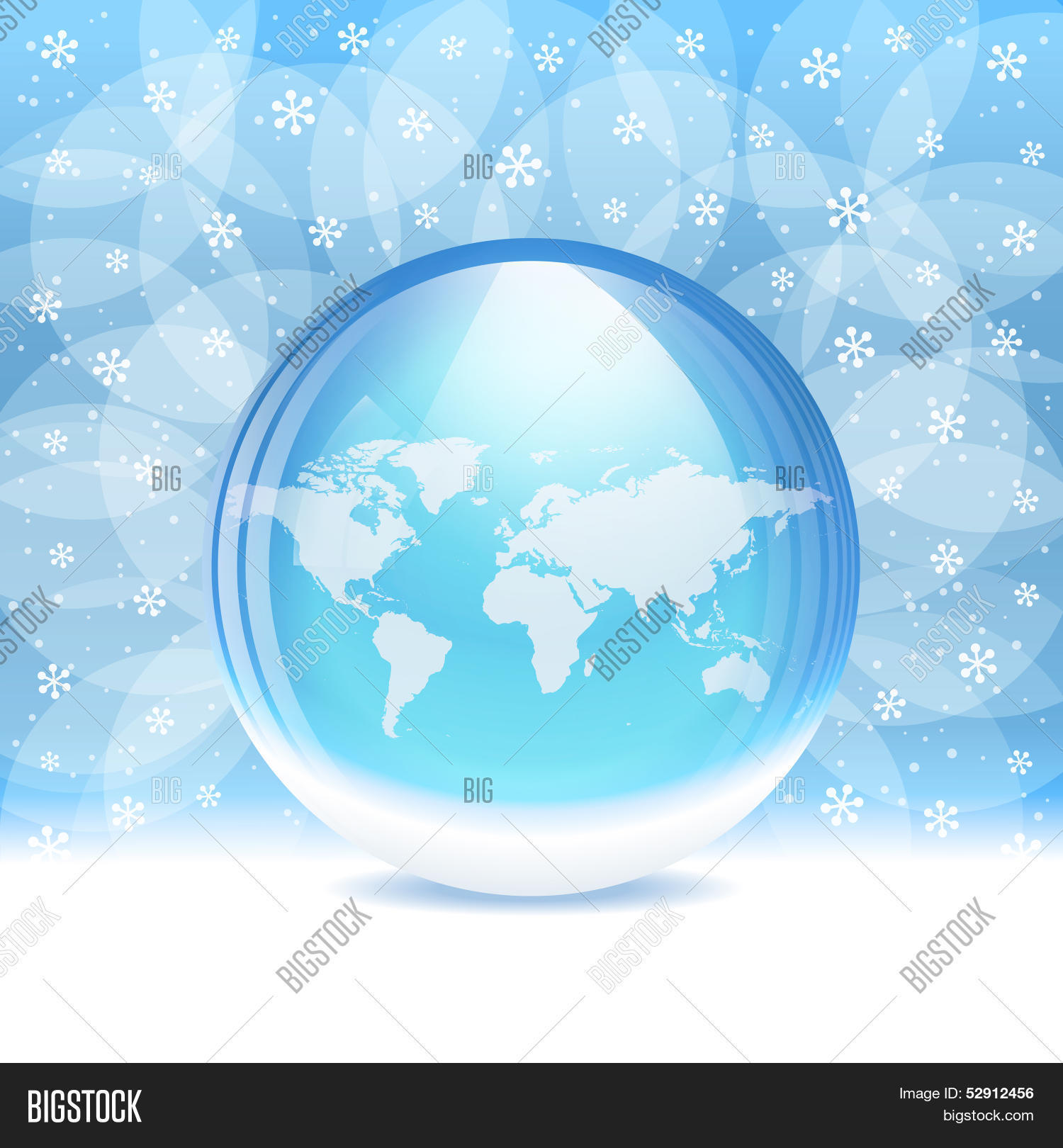 Vector transparent snow globe map vector photo bigstock vector transparent snow globe with map gumiabroncs Choice Image