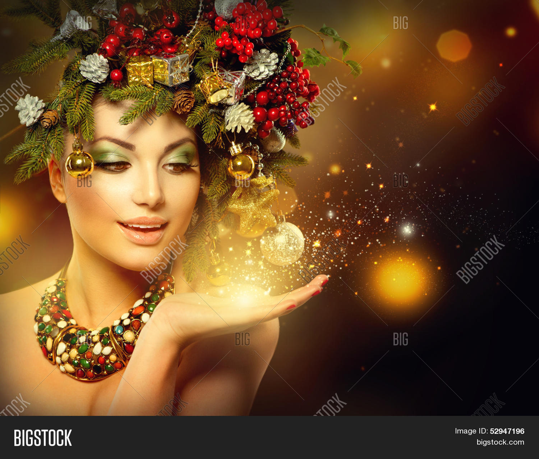 Christmas Winter Woman Image & Photo (Free Trial) | Bigstock