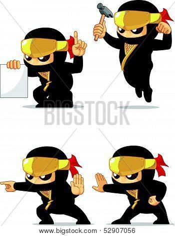 Ninja Customizable Mascot 4