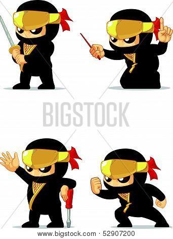 Ninja Customizable Mascot 16