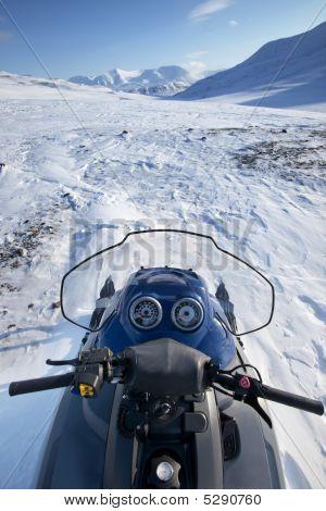 Snowmobile Winter Landscape