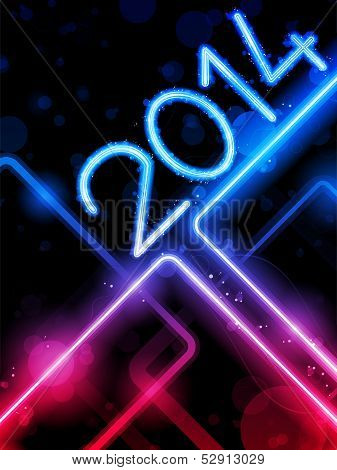 2014 Yellow  Lines Background Neon Laser