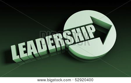 Leadership Concept With an Arrow Going Upwards 3D poster
