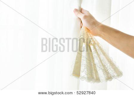 Lace Edging Fan