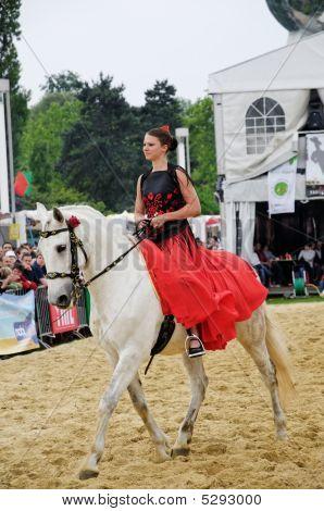 Spanish woman horse rider