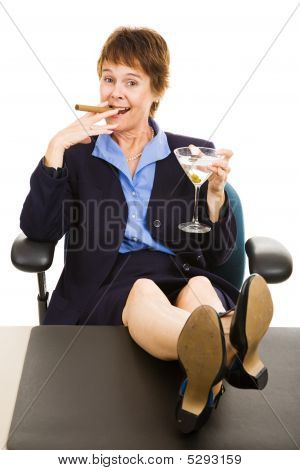 Successful Business Woman Relaxed