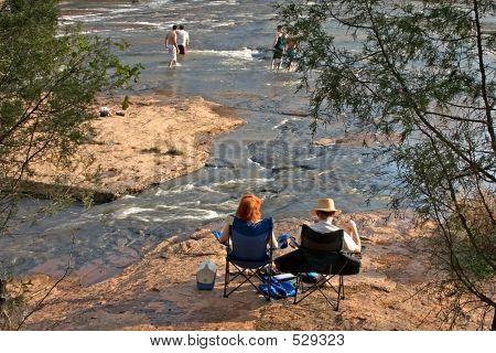 Couple Enjoying River #1