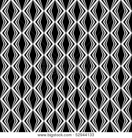 Design seamless monochrome diamond pattern. Vector art poster