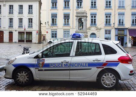 Municipal police car in Lyon, France