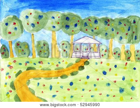 Summer Scenery - Kids Drawing