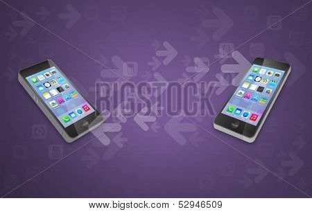 Mobile Phone to Phone Content and Data Transfer