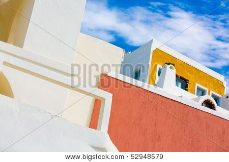 Arcitecture  on the island of Santorini, Oia, Greece