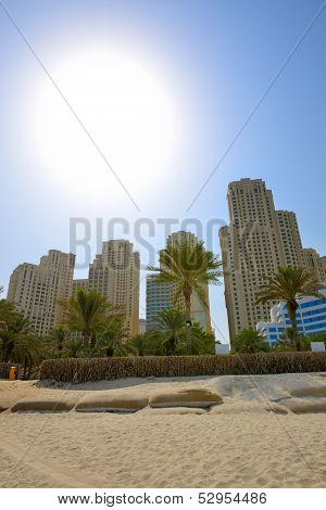 Beach Of The Luxury Hotel, Jumeirah, Dubai, Uae