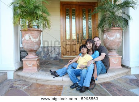 Attractive Family At Home