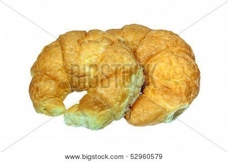 Croissant On White Backgrund