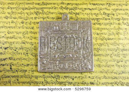 Tibetan Metal Plate