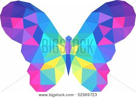 vector polygonal butterfly . This is file of EPS8 format. poster
