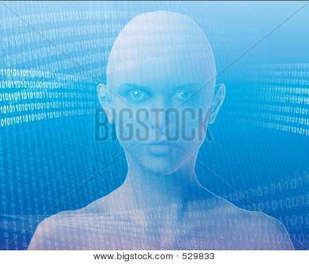 Woman And Information