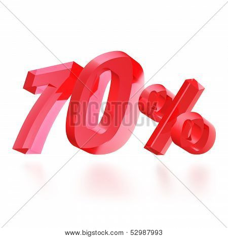 Sales concept: 70% off sign on white