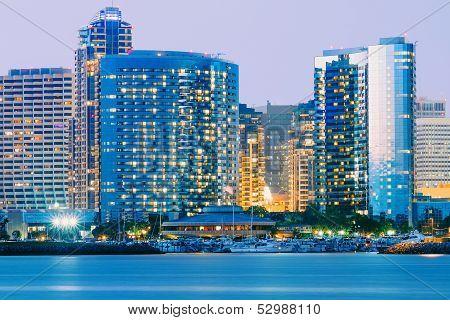 Downtown City of San Diego, California, Twilight