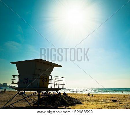 Sunny San Diego Beach, Southern California USA