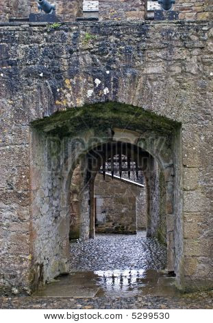 Castle Gate With Portcullis
