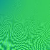 Abstract green and azure fractal background zigzag stripes theme. Thumbnail may contain moire not existing on fullsize picture. poster