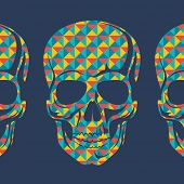 Conceptual background with skulls. poster