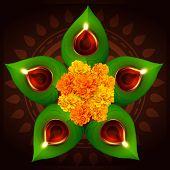 vector hindu festival of diwali illustration poster